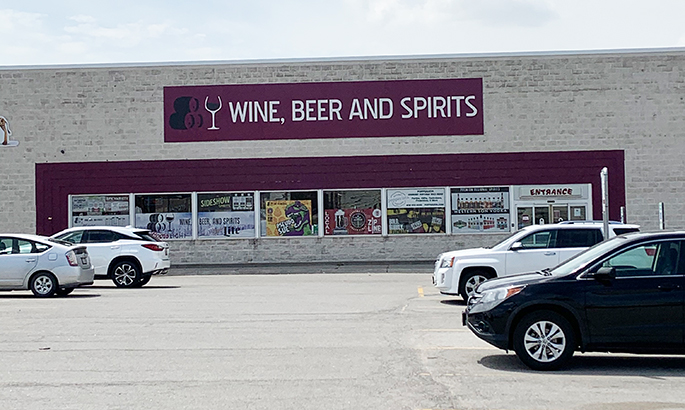 Shred Vault Kiosk Wine, Beer and Spirits Outdoor View