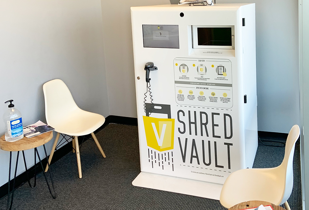 Shred Vault Kiosk iFixOmaha Papillion Indoor View
